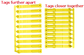 Image of strips of SET tags