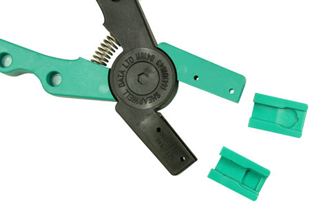 Image of SET tag applicator green jaw inserts